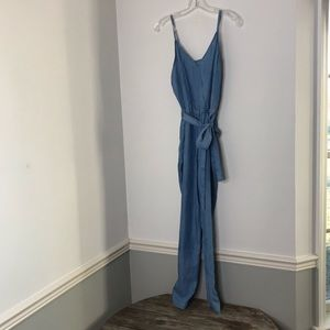 Jumpsuit Romper Denim Chambray Spaghetti Strap